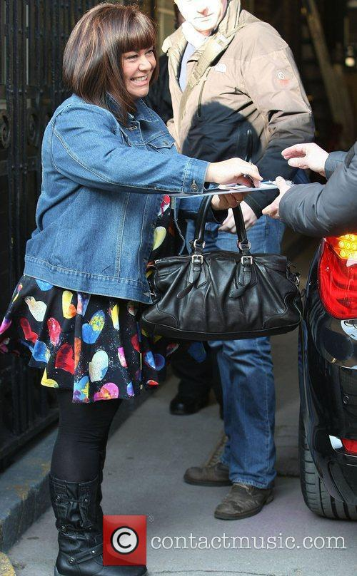 Dawn French at the ITV studios London, England