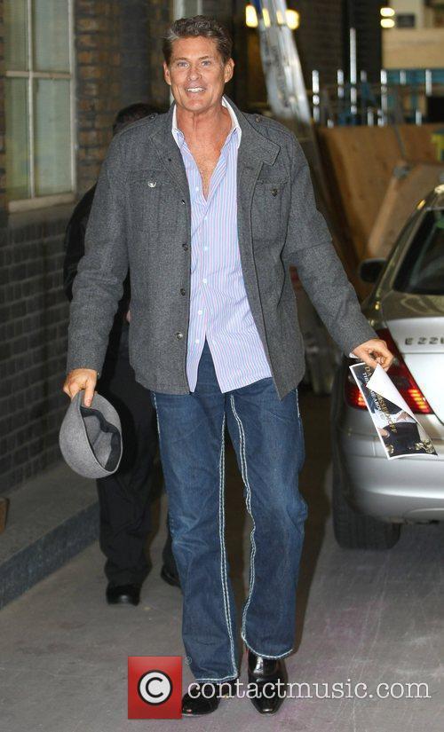 David Hasselhoff outside the ITV studios London, England