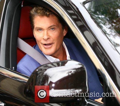 David Hasselhoff arrives at the ITV studios in...