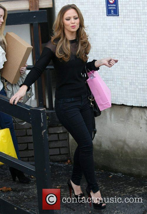 Kimberley Walsh leaving the ITV studios London, England