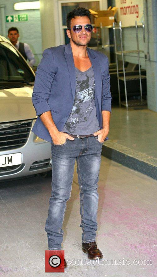 peter andre outside the itv studios london 4046196