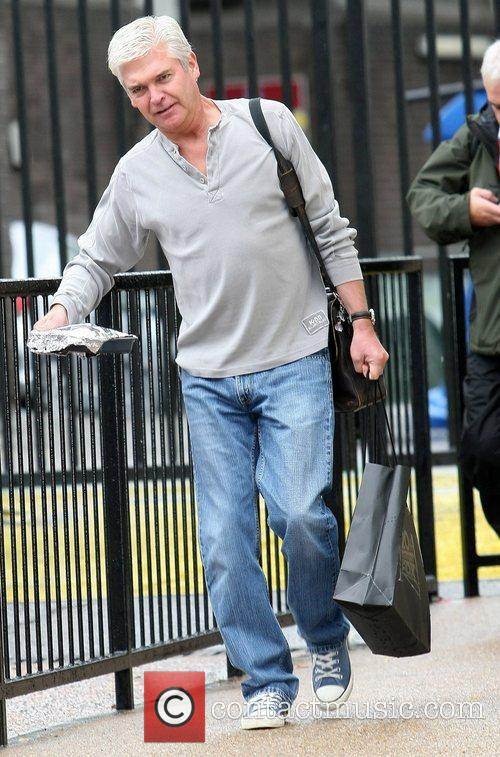Phillip Schofield leaves the ITV studios London, England