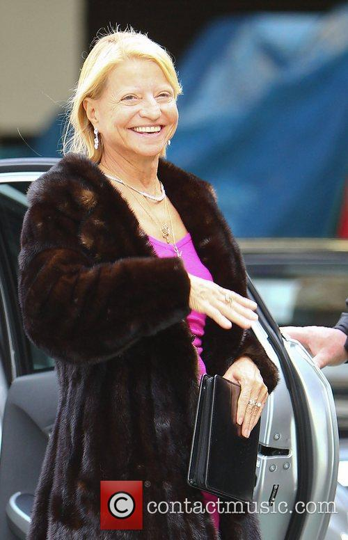 Olga Korbut outside the ITV studios London, England
