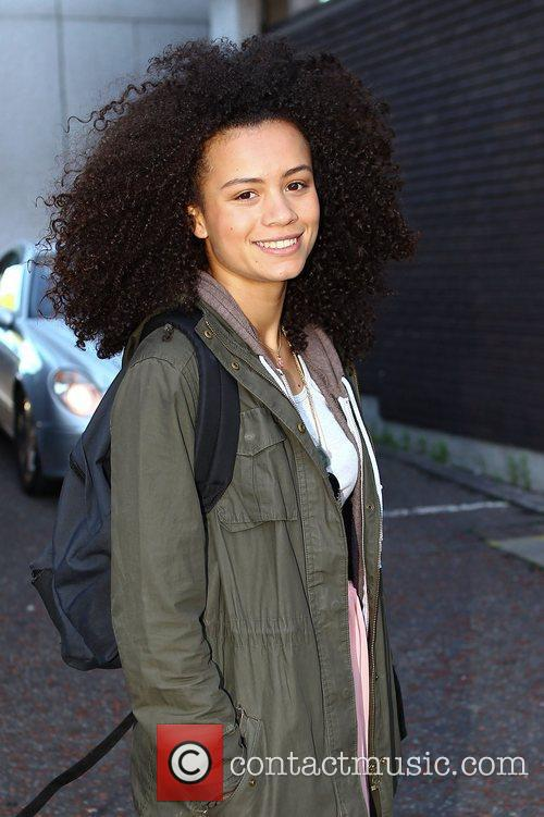 Jasmine Breinburg outside the ITV studios London, England