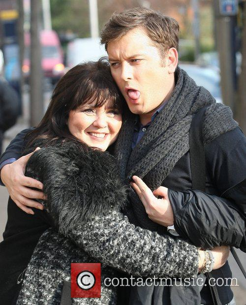 coleen nolan and brian dowling outside the 5764581