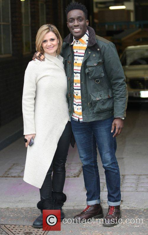 Maria Filippov and Andy Akinwolere  at the...