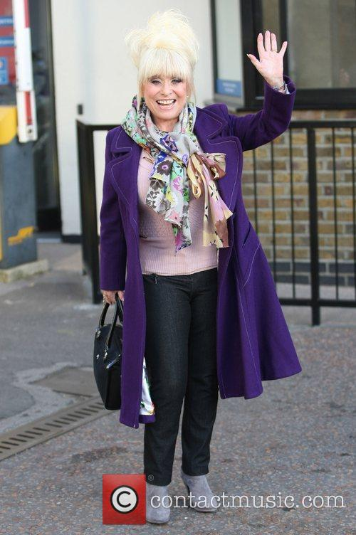 Barbara Windsor outside the ITV studios London, England