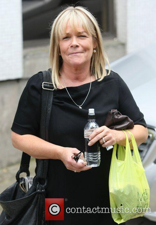 Linda Robson outside the ITV studios London, England