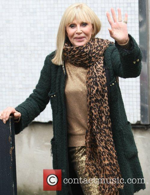 Britt Ekland outside the ITV studios London, England