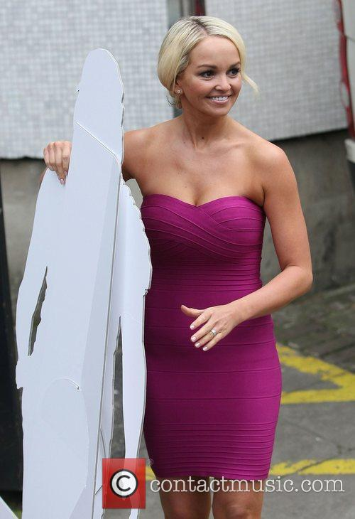 Jennifer Ellison  poses with with a cardboard...