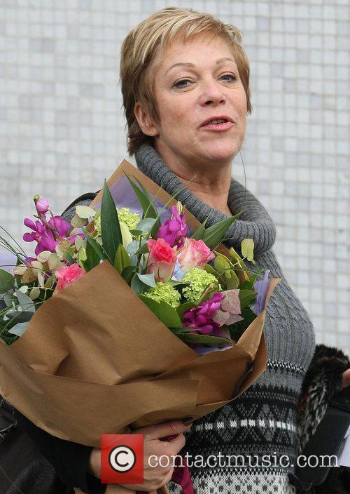 Denise Welch leaving the ITV studios London, England