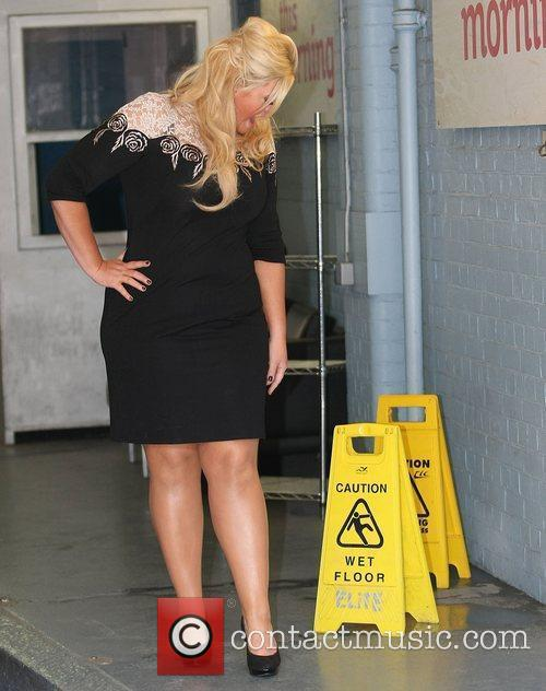 At the ITV studios