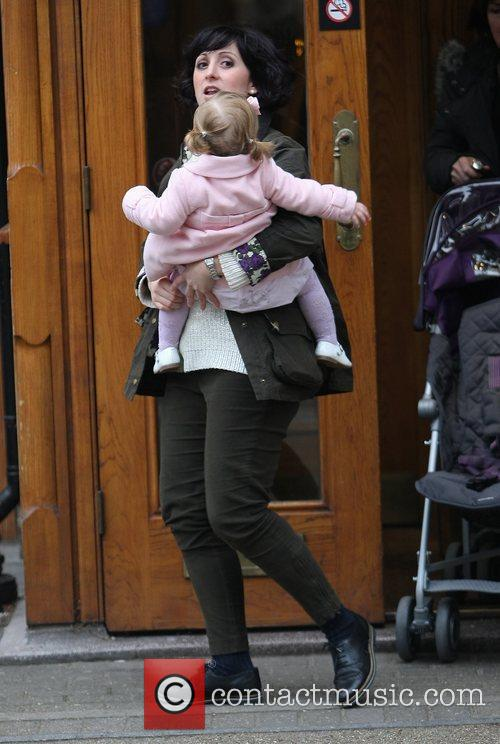 Natalie Cassidy and her daughter Eliza at the...