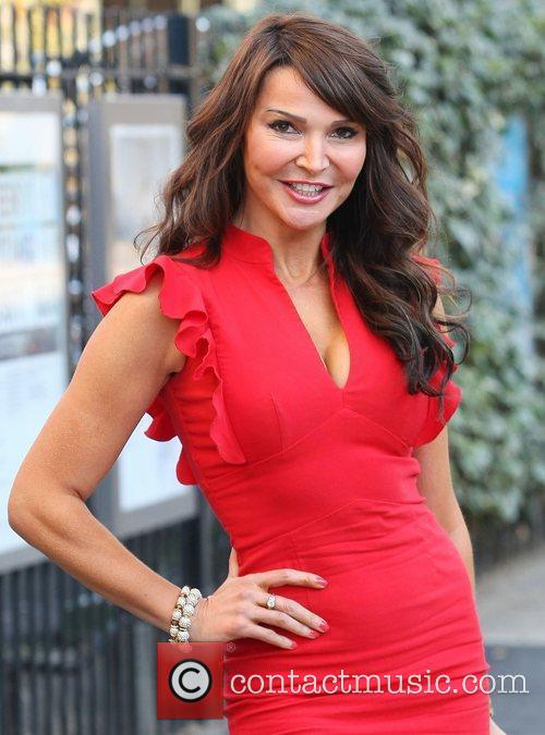 Lizzie Cundy leaves the ITV studios London, England