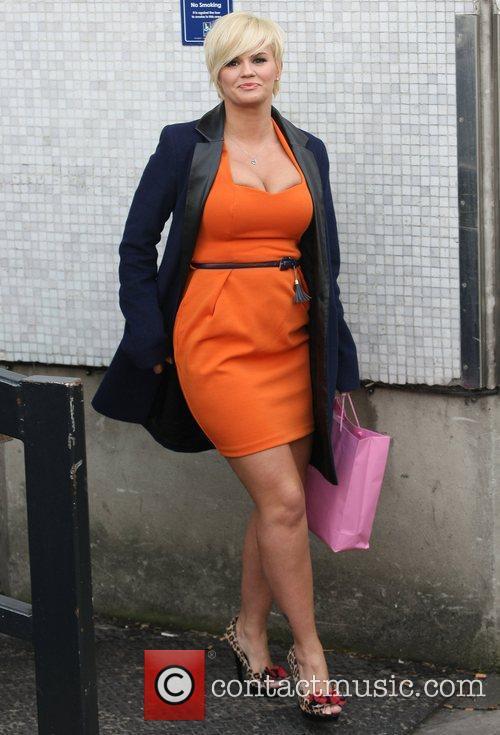 Kerry Katona leaving the ITV studios London, England