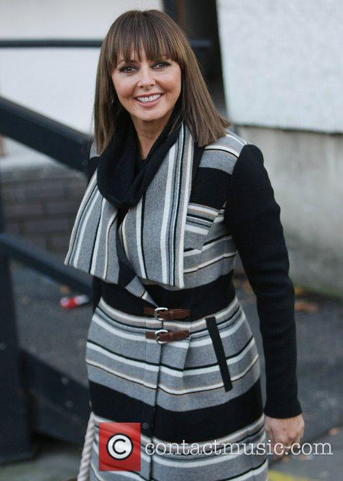 Carol Vorderman outside the ITV studios London, England
