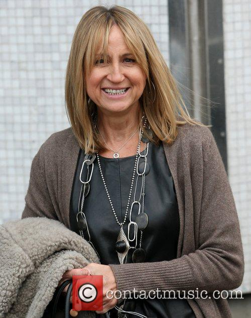 Carol McGiffin leaves the ITV studios after appearing...