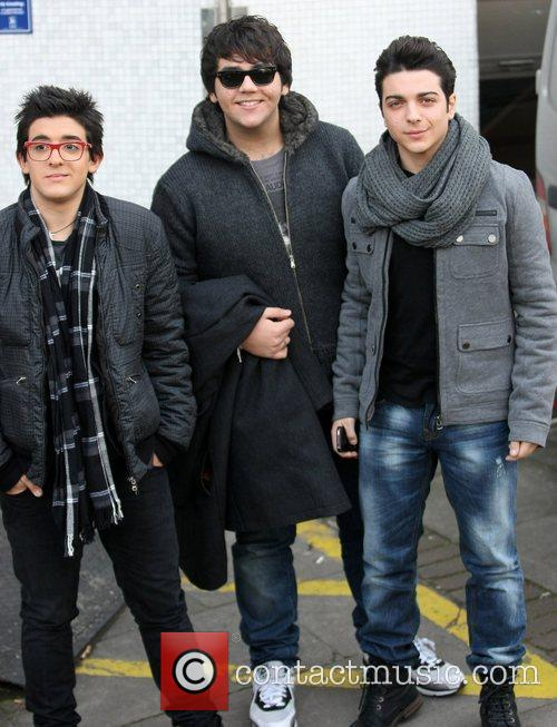 II Volo leave the ITV studios after appearing...