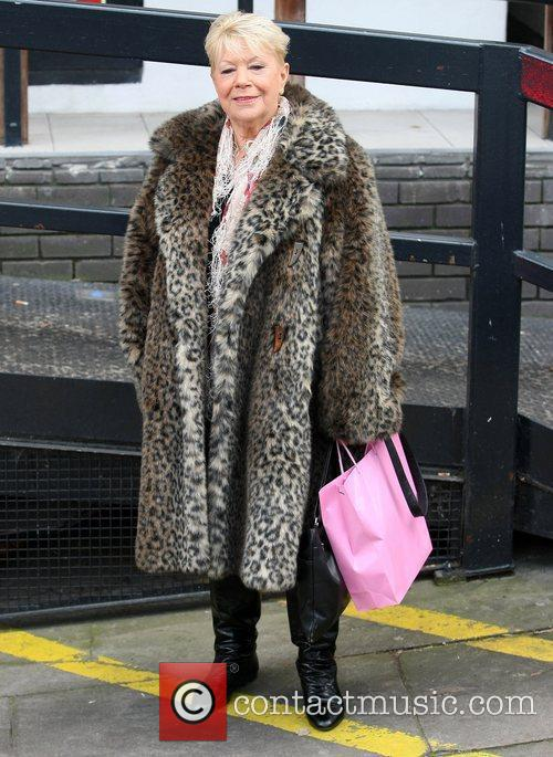 Laila Morse leaves the ITV studios after appearing...