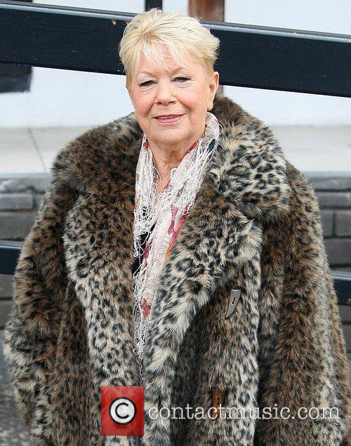 laila morse leaves the itv studios after 3682678