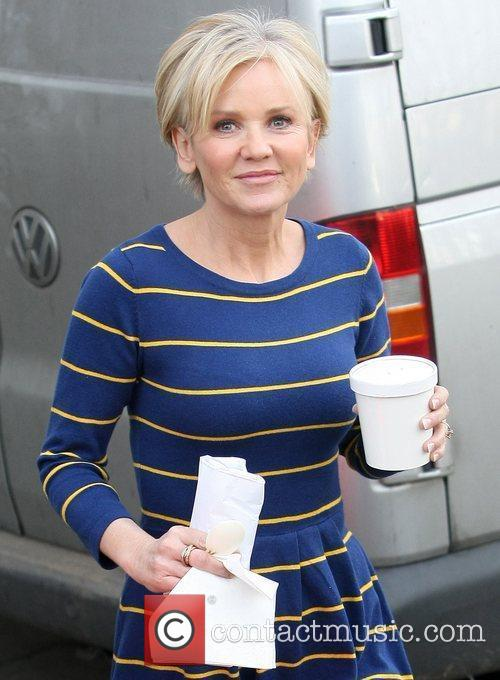 Lisa Maxwell leaves the ITV studios after appearing...