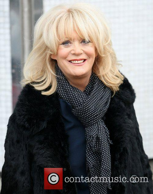 Sherrie Hewson leaves the ITV studios after appearing...