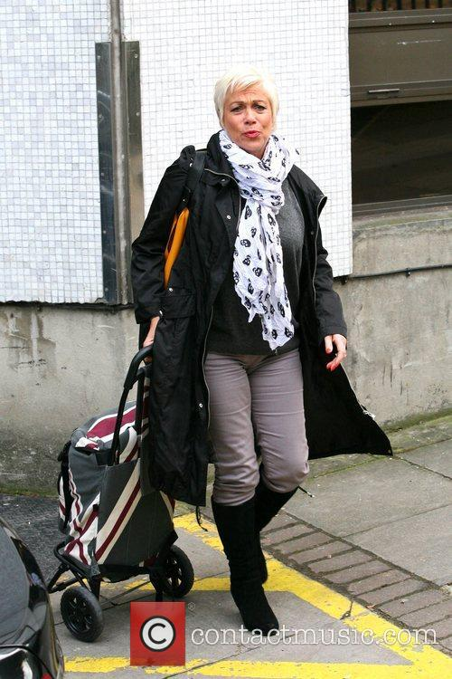Denise Welch  outside the ITV studios London,...
