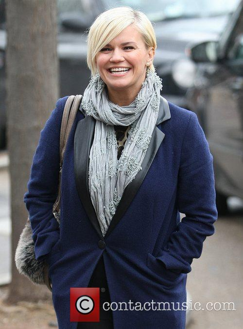 Kerry Katona outside the ITV studios London, England