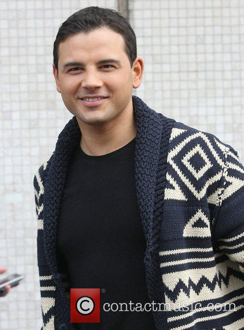 Ryan Thomas outside the ITV studios London, England