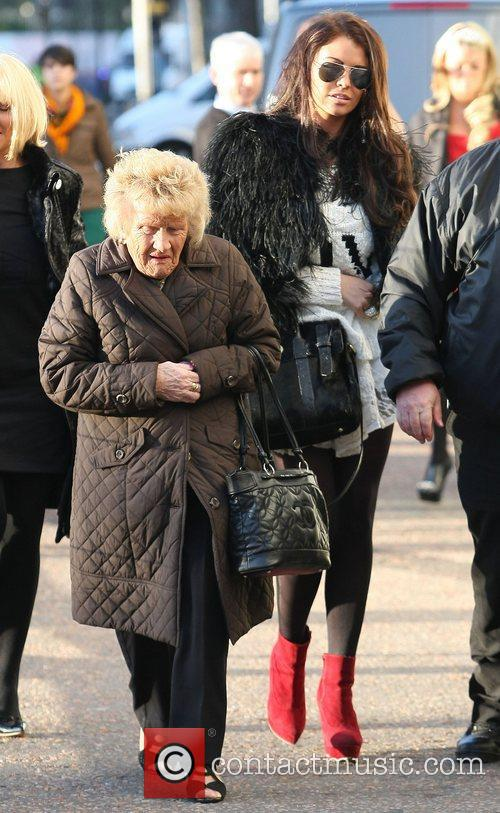 Nanny Pat and Jessica Wright at the ITV...