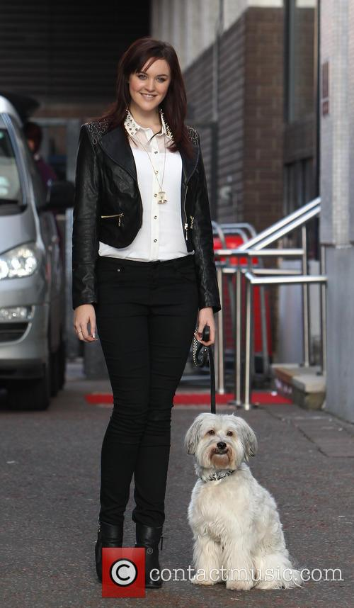 ashley and pudsey celebrities outside the itv 20033066