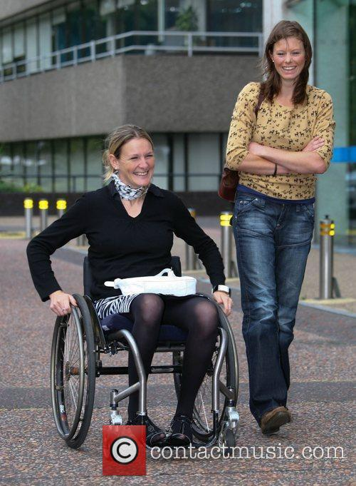 paralympian tennis player lucy shuker outside the 4050359