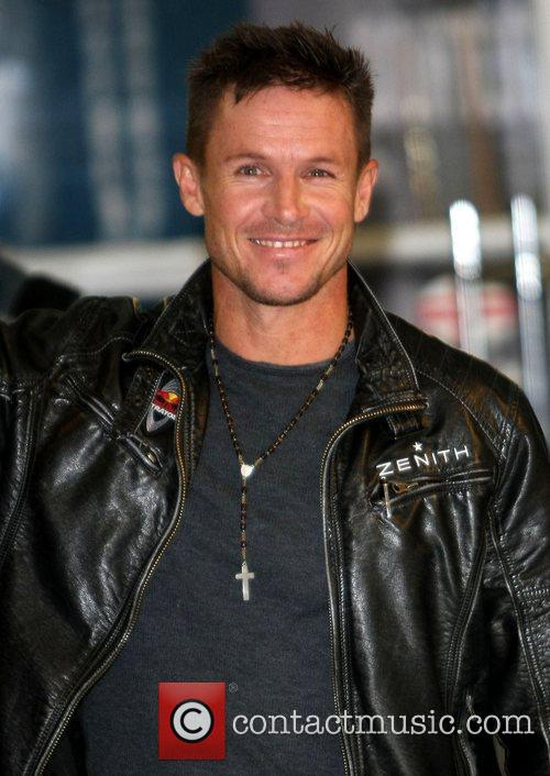 Felix Baumgartner at the ITV studios London, England