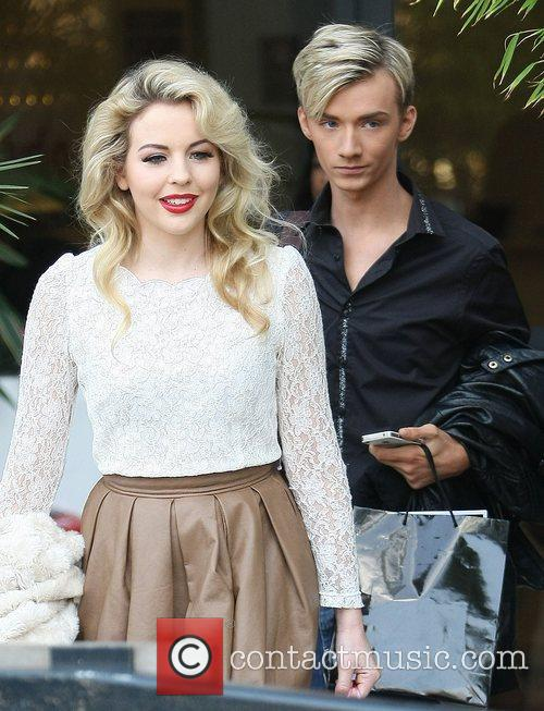 Lydia Bright and Harry Derbridge at the ITV...
