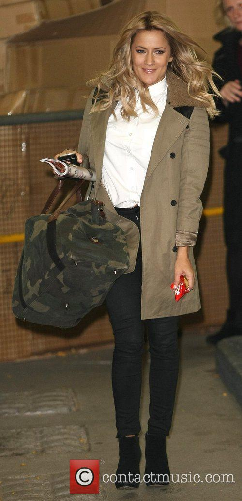 Caroline Flack outside the ITV studios London, England