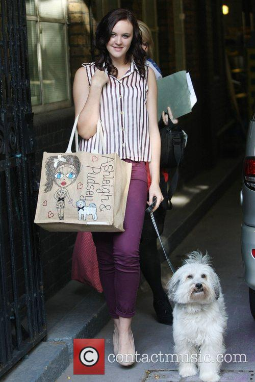 Ashleigh and Pudsey outside the ITV Studios London,...
