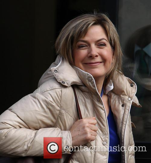 Penny Smith Celebrities outside the ITV studios...