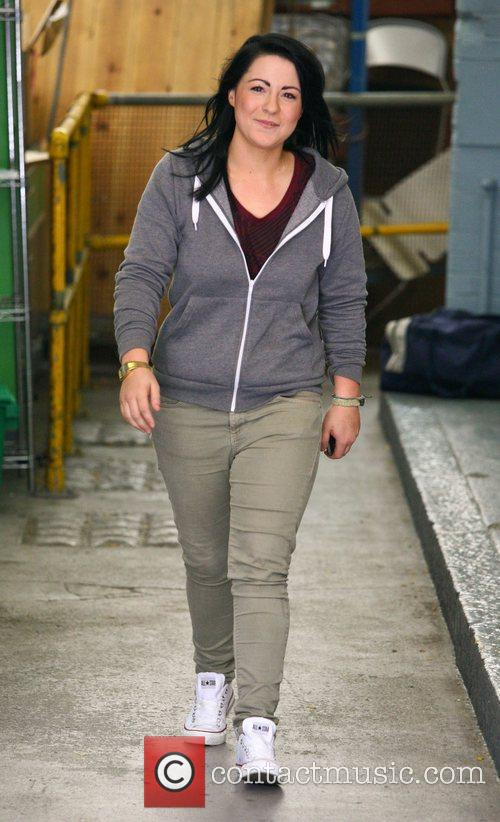 Lucy Spraggan outside the ITV studios London, England