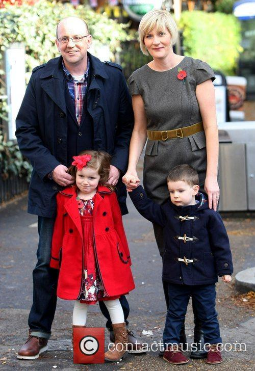 Lee and Alex O'Donoghue with their children Gabriel...