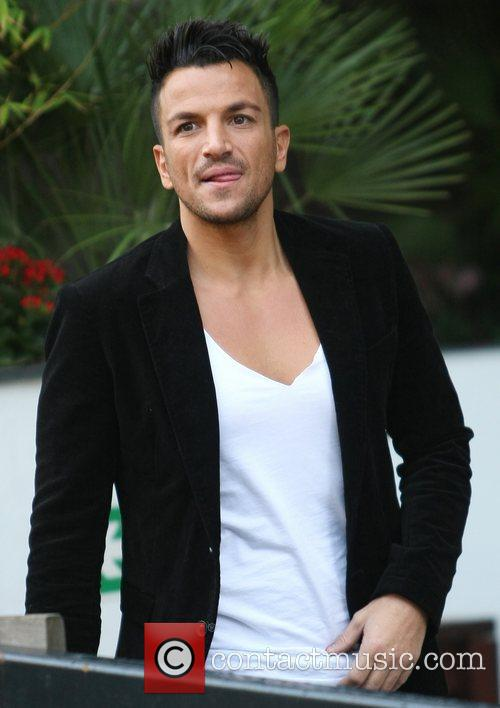 Peter Andre outside the ITV studios London, England