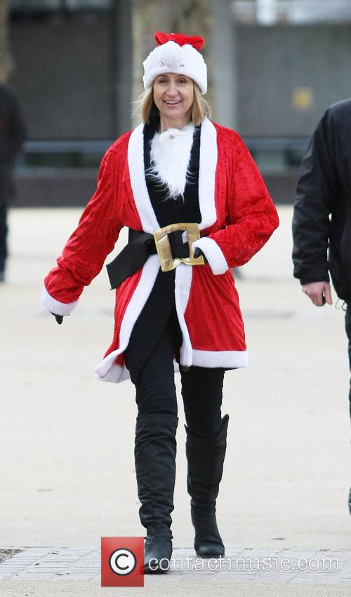 Carol Mcgiffin and Santa Claus 1