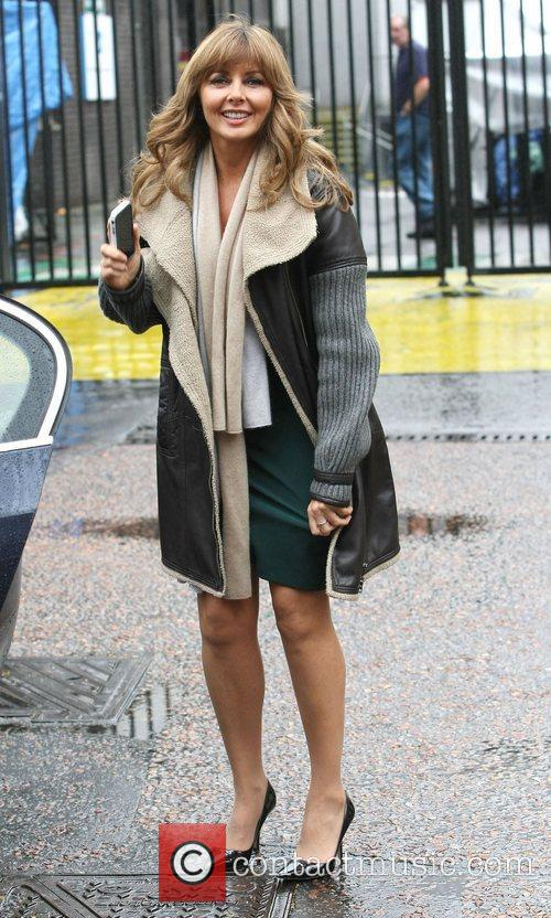 Carol Vorderman leaves the ITV studios London, England