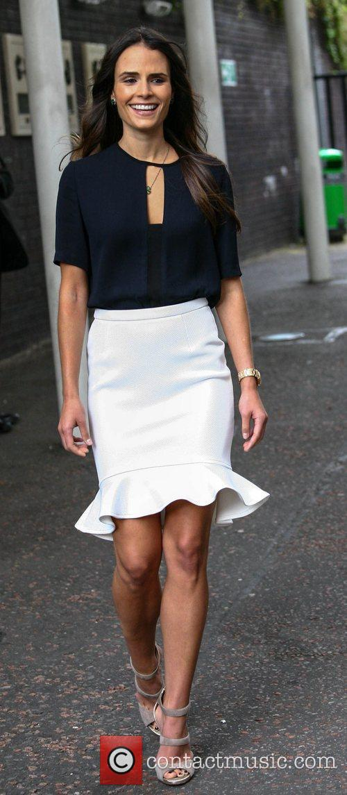 Jordana Brewster leaves the ITV studios London, England