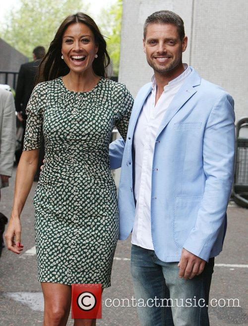 Melanie Sykes and Keith Duffy outside the ITV...