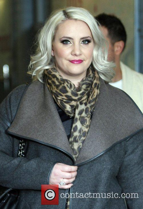 Claire Richards outside the ITV studios London, England