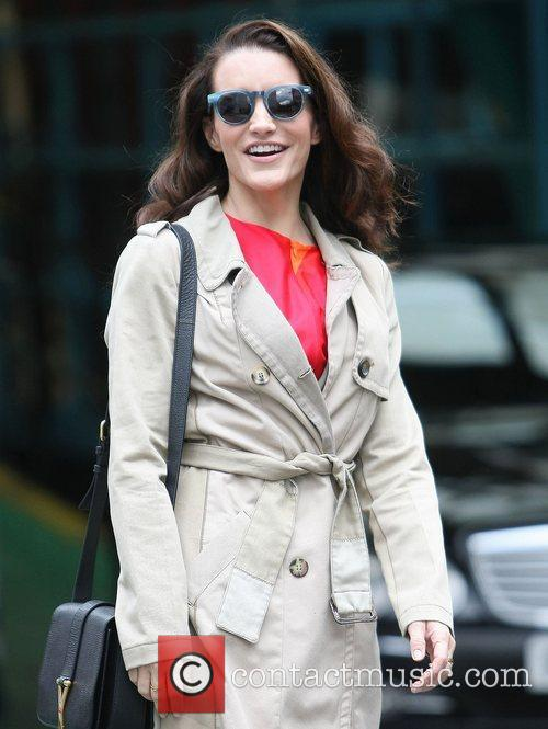 kristin davis outside the itv studios london 4103369