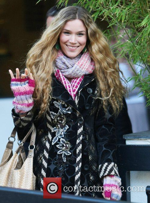 Joss Stone outside the ITV studios London, England