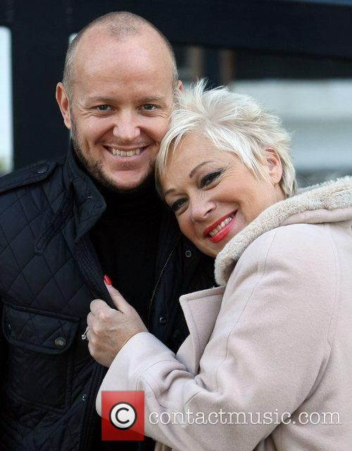 Lincoln Townley and Denise Welch outside the ITV...