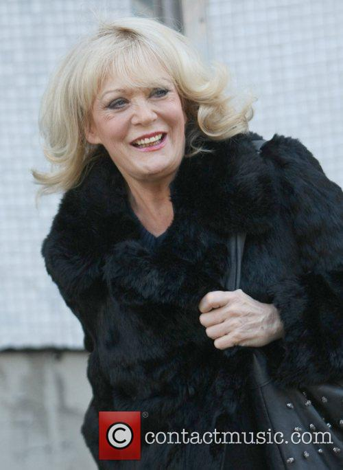 Sherrie Hewson outside the ITV studios London, England