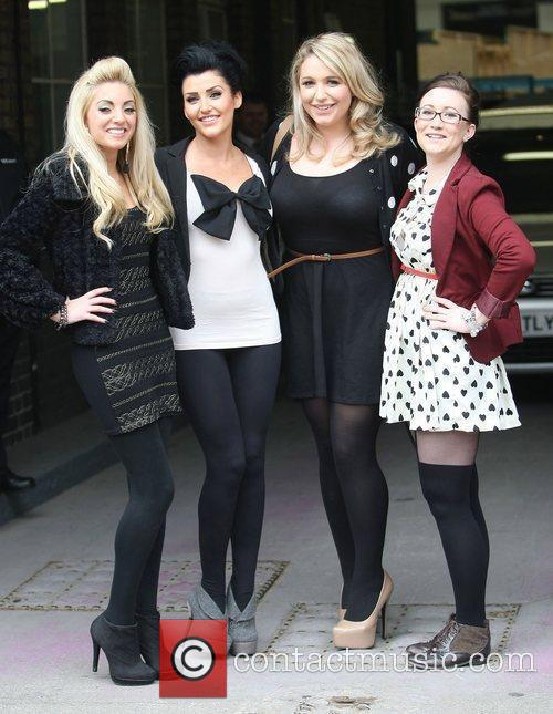 The girls from 'Take Me Out' at the...